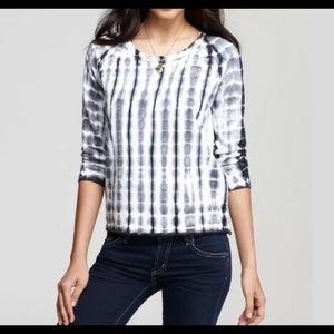 James Perse Black and White Tie Dye Sweatshirt